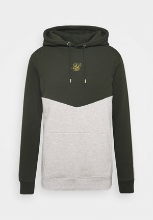 CUT AND SEW OVERHEAD HOODIE - Sweat à capuche - khaki/snow marl