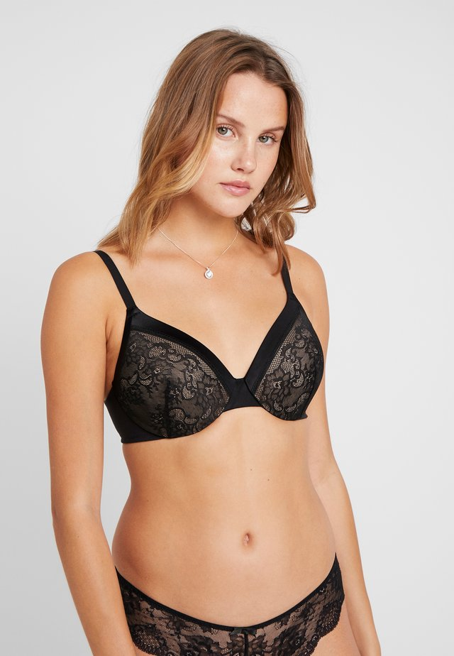 EXTRA COVERAGE UNDERWIRE BRA - Beugel BH - black/beige