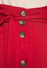 Pieces - PCELSA SKIRT  - A-Linien-Rock - pompeian red - 4