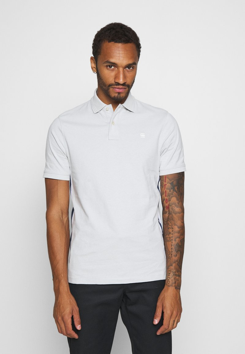 G-Star - SIDE STRIPE POLO S\S - Polo shirt - cool grey