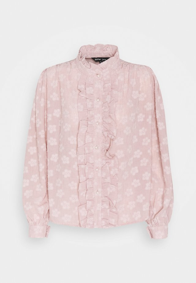 MOTHER'S MIND RUFFLE BLOUSE - Pusero - pink