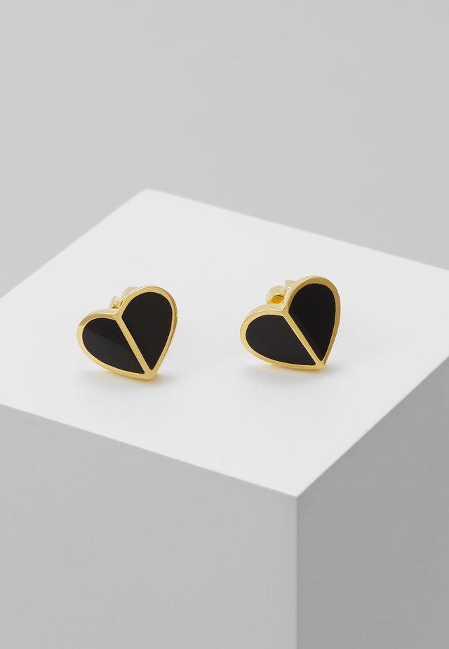 HERITAGE SPADE SMALL HEART STUDS - Earrings - black