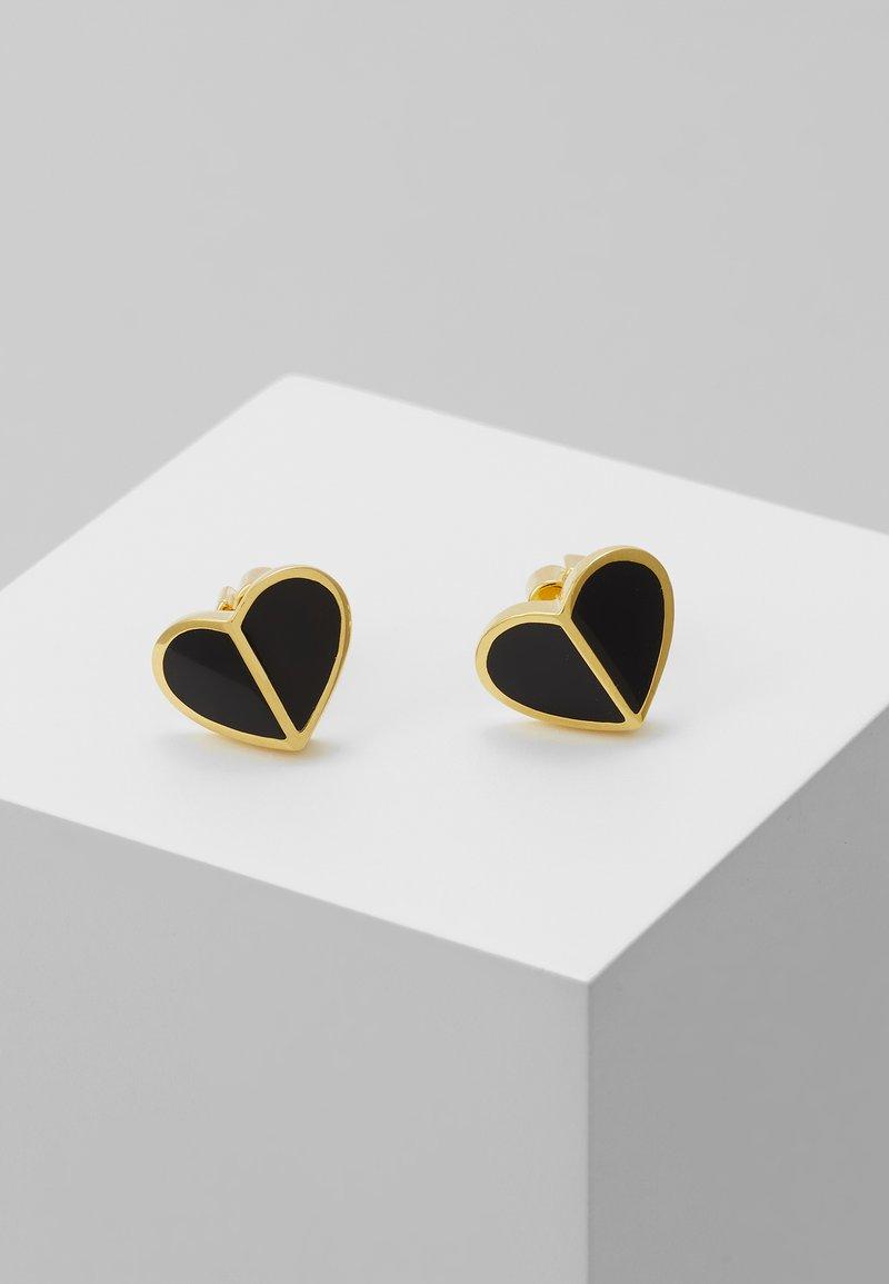 kate spade new york - HERITAGE SPADE SMALL HEART STUDS - Earrings - black