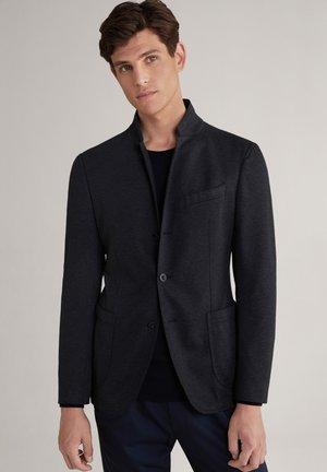 HANKEZ - Summer jacket - dunkelblau strukturiert