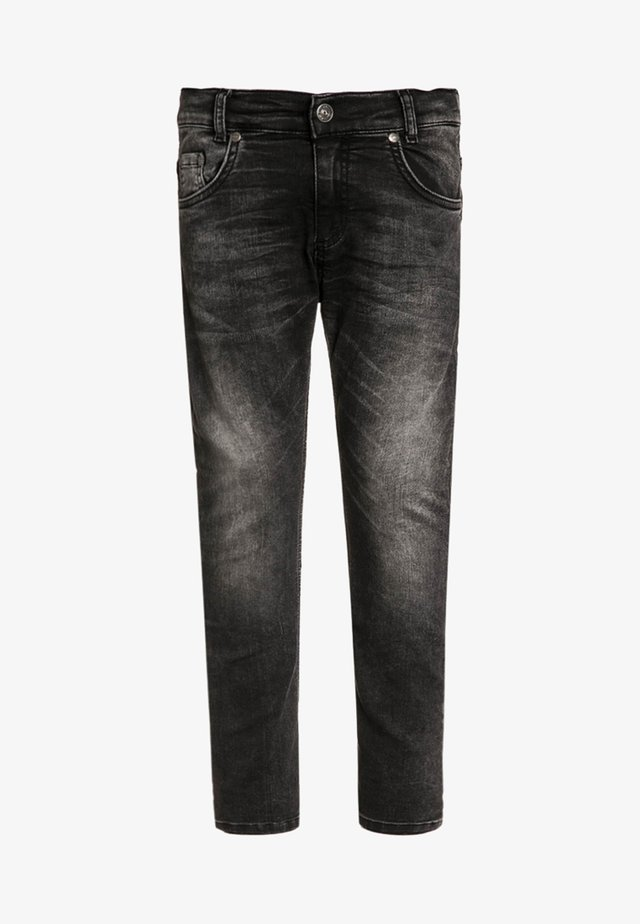 5 POCKET ULTRA - Jeansy Skinny Fit - black denim