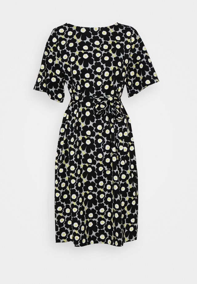 KOLLINEAARI UNIKKO DRESS - Day dress - beige/black/yellow