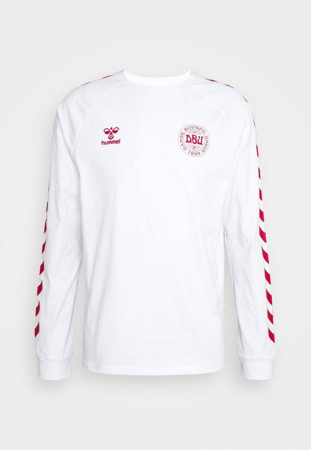 DÄNEMARK DBU FAN 2020 TEE - Oblečení národního týmu - white