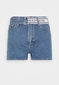 Calvin Klein Jeans - HIGH RISE - Denim shorts - light blue - 3