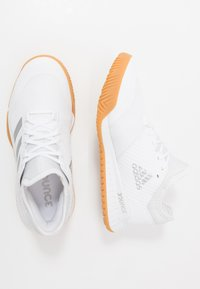 adidas Performance - COURT TEAM BOUNCE - Käsipallokengät - footwear white/silver metallic - 1