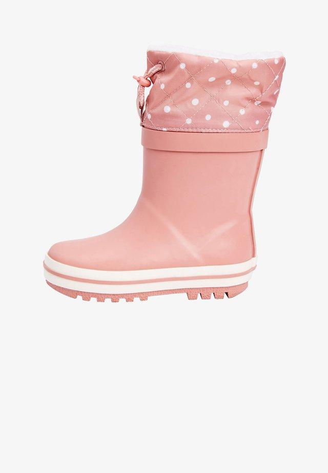 WARM LINED CUFF - Bottes en caoutchouc - pink