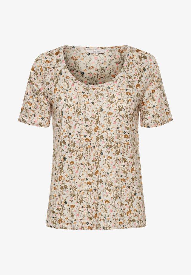 T-shirt con stampa - peach blossom botanical print