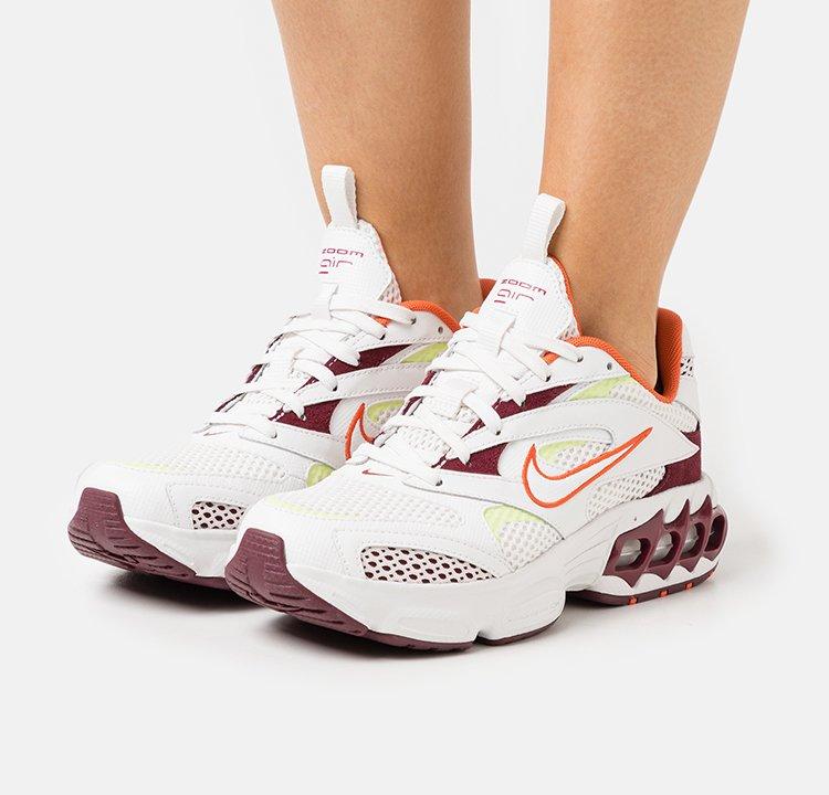 Nike Sportswear - ZOOM AIR FIRE - Tenisky - dark beetroot/summit white/orange/light lemon twist