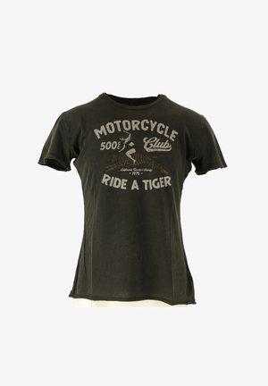 Print T-shirt - carbon black