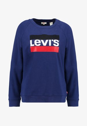 RELAXED GRAPHIC CREW - Sweatshirt - medieval blue