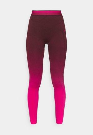 SEAMLESS - Legging - maroon/pursuit pink