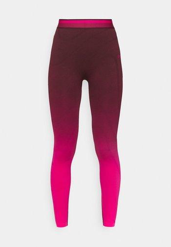 SEAMLESS - Leggings - maroon/pursuit pink