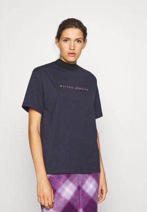 MOCK NECK - T-shirt print - midnight