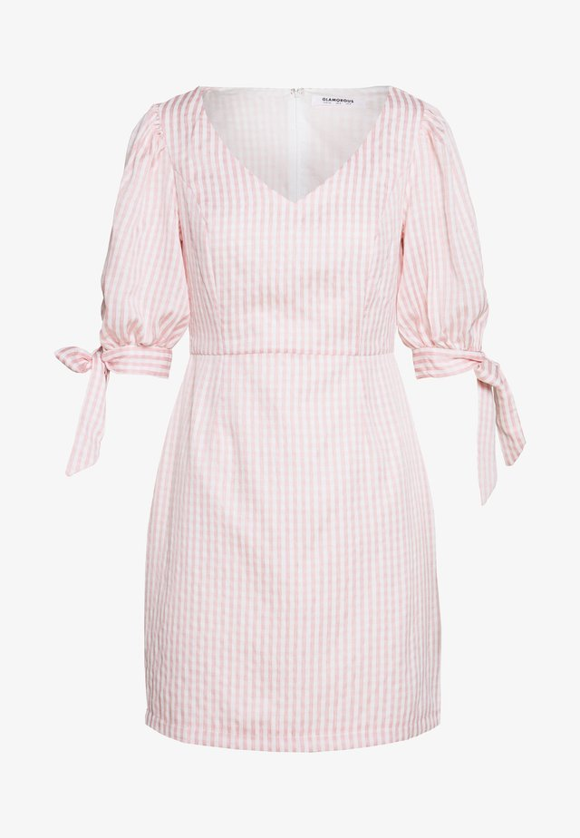 PUFF SLEEVE MINI DRESS - Sukienka letnia - dusty pink
