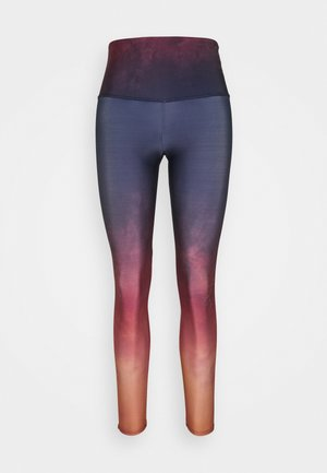 GRAPHIC HIGH RISE MIDI - Leggings - fire