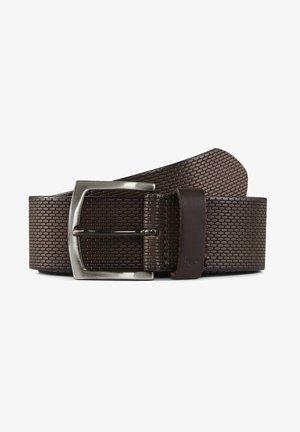 MIT PRÄGUNG - Belt - brown uni