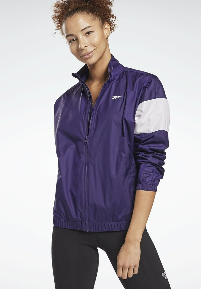 LINEAR LOGO JACKET - Training jacket - purple