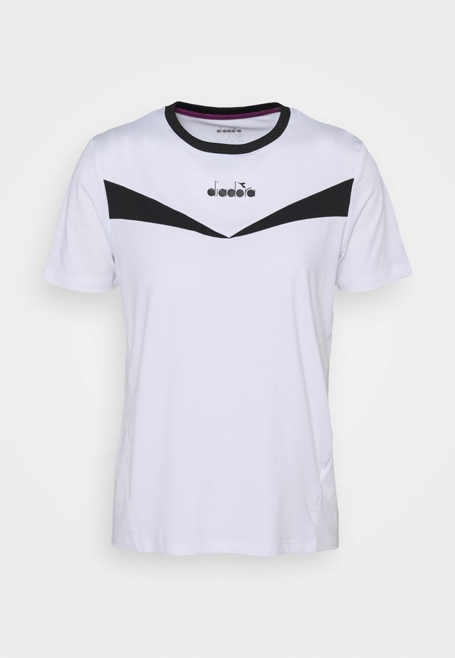 Print T-shirt - optical white/black