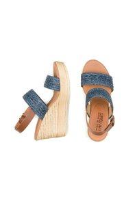 Eva Lopez - SANDALIA - Wedge sandals - marino - 2