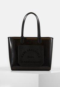 JOURNEY TRANSPARENT TOTE - Handbag - black
