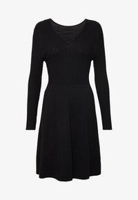 ONLY Petite - ONLSTRING DRESS - Pletené šaty - black - 4