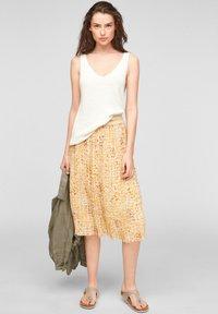 s.Oliver - A-line skirt - sunlight yellow aop - 1