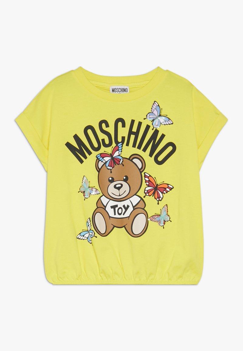 MOSCHINO - Printtipaita - blazing yellow