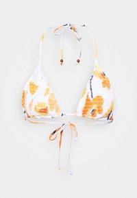 SUMMER MEMOIRS SHIRRED SLIDE - Bikini top - white