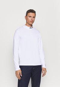 Guess - T-shirt à manches longues - blanc pur - 0