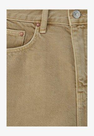 Denim shorts - mottled beige
