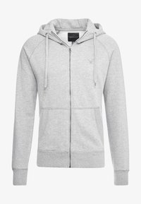 ZIP THRU HOODED - Mikina na zip - grey melange