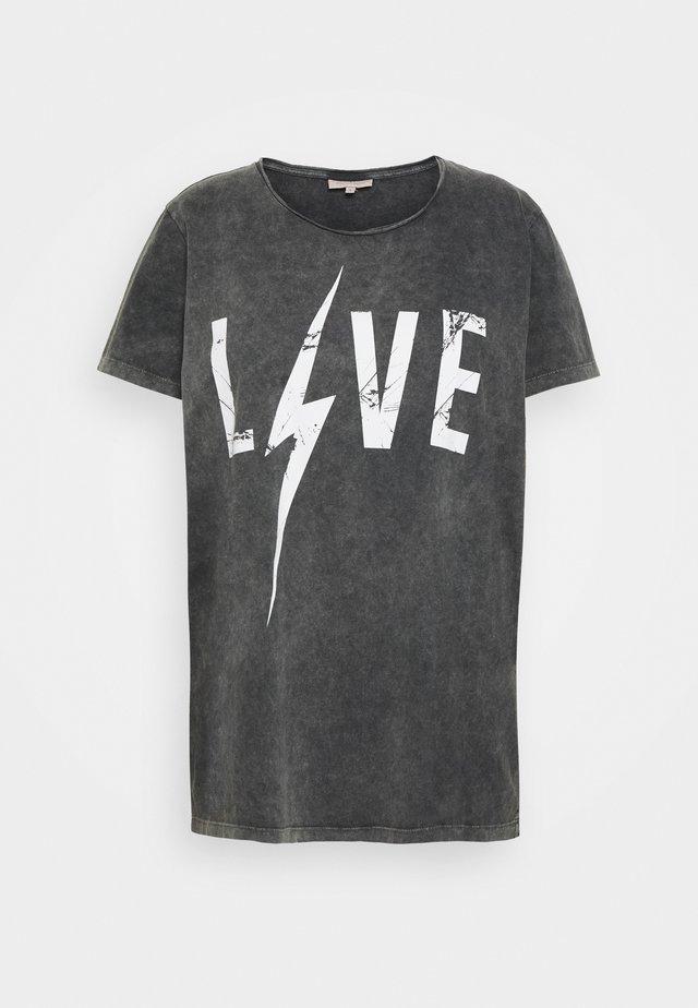 CARMINE BOXY TEE - T-shirt imprimé - black