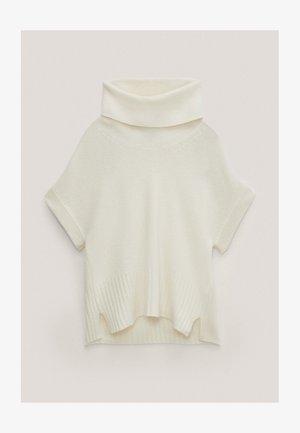 MIT WEITEM ROLLKRAGEN  - Print T-shirt - white