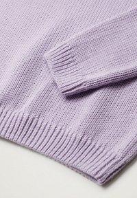 Mango - Strikpullover /Striktrøjer - violet clair pastel - 5