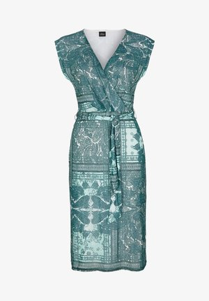 MIT CACHE COEUR-AUSSCHNITT - Day dress - cream paisley aop