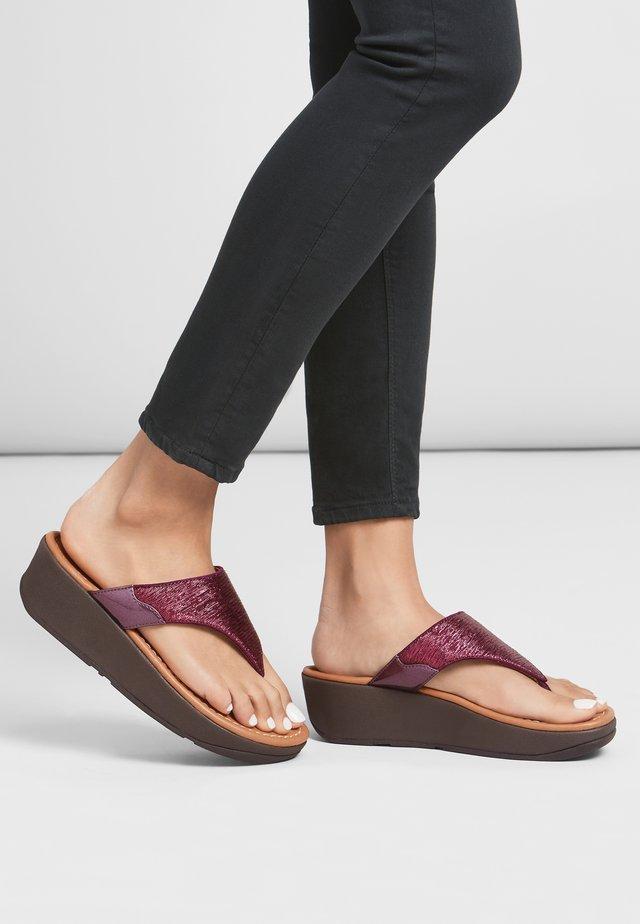 MYLA - T-bar sandals - pickled beet
