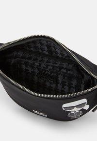 KARL LAGERFELD - IKONIK BUMBAG UNISEX - Bum bag - black - 3