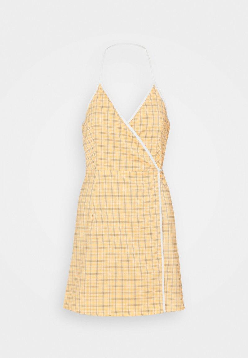 Fashion Union - MALAGA DRESS - Vapaa-ajan mekko - yellow