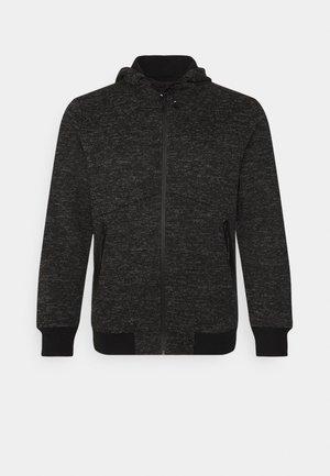 VEDDER TEXTURED ZIP HOODIE - Zip-up sweatshirt - charcoal
