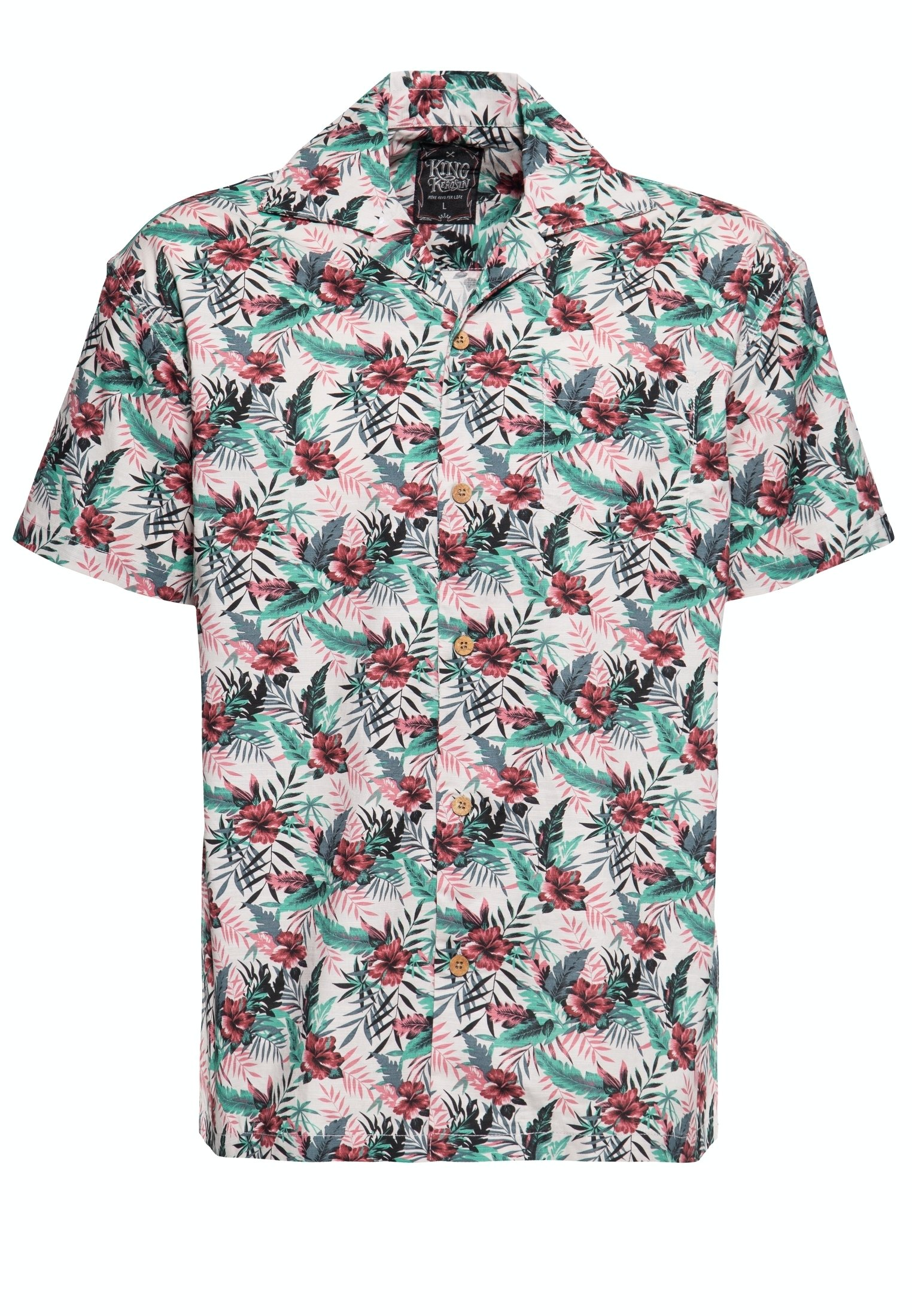 Herren MIT HAWAIIANISCHEM MUSTER - Hemd