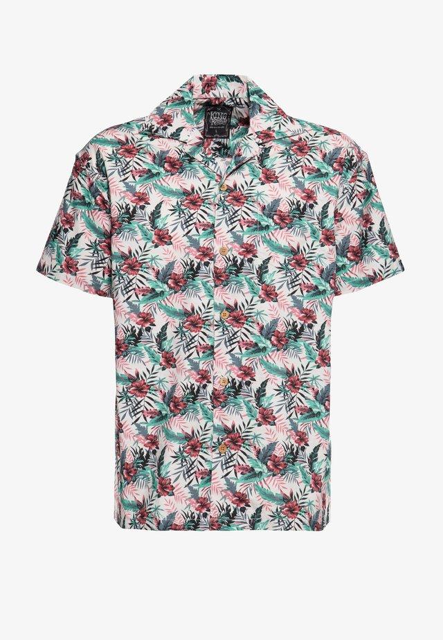 MIT HAWAIIANISCHEM MUSTER - Shirt - offwhite