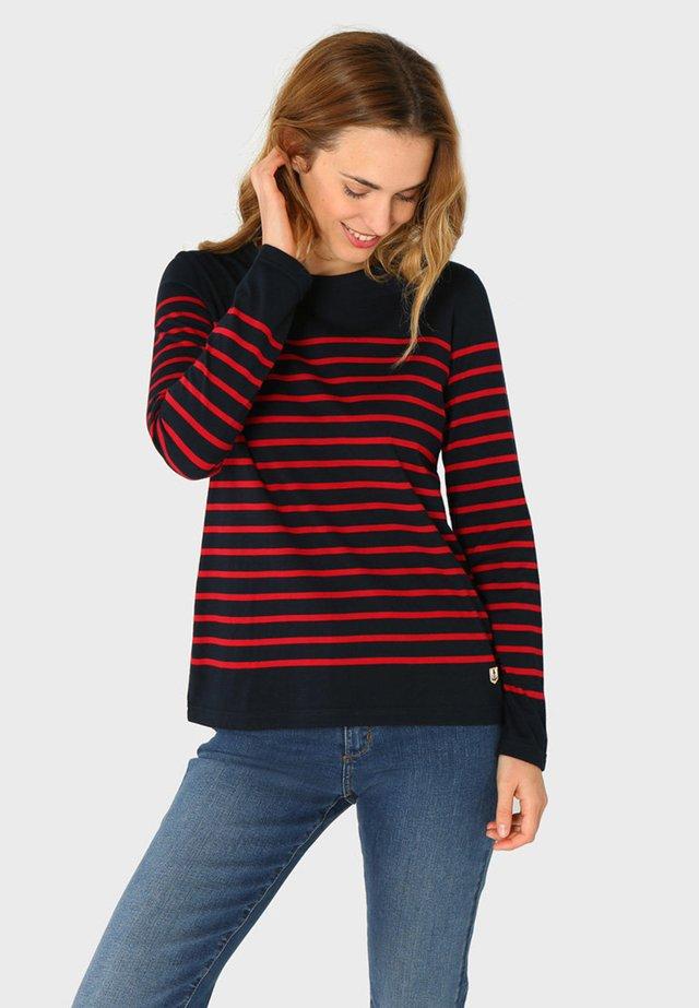 PORT-LOUIS - MARINIÈRE - T-SHIRT - T-shirt à manches longues - rich navy braise