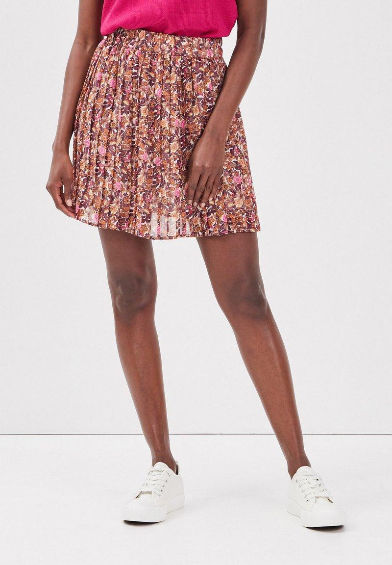 Cache Cache - A-line skirt - brown
