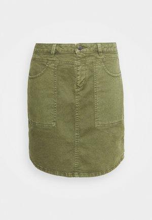 ICON SKIRT - Denim skirt - khaki