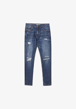 Skinny džíny - mottled blue