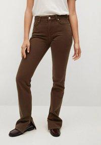 Mango - Straight leg jeans - brown - 0